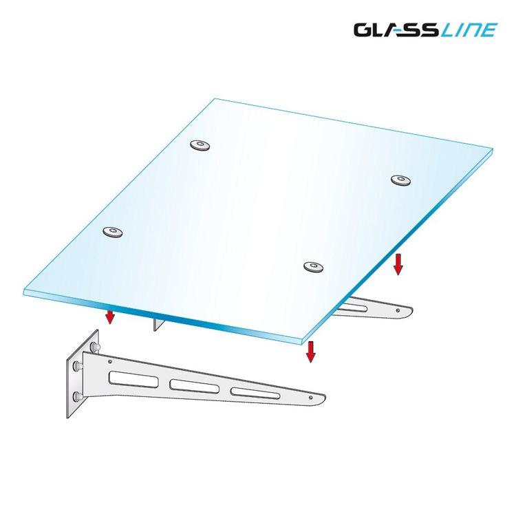 Glas Vordach Canopy Blade Mit Edelstahltr Gern Breite