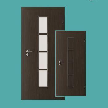 Zimmertür mit glasausschnitt  Styl Zimmertür mit schmalem Glasausschnitt oder HDF Verkleidung ...