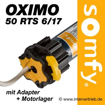 Rollladenfunkmotor Somfy Oximo 50 RTS 6/17