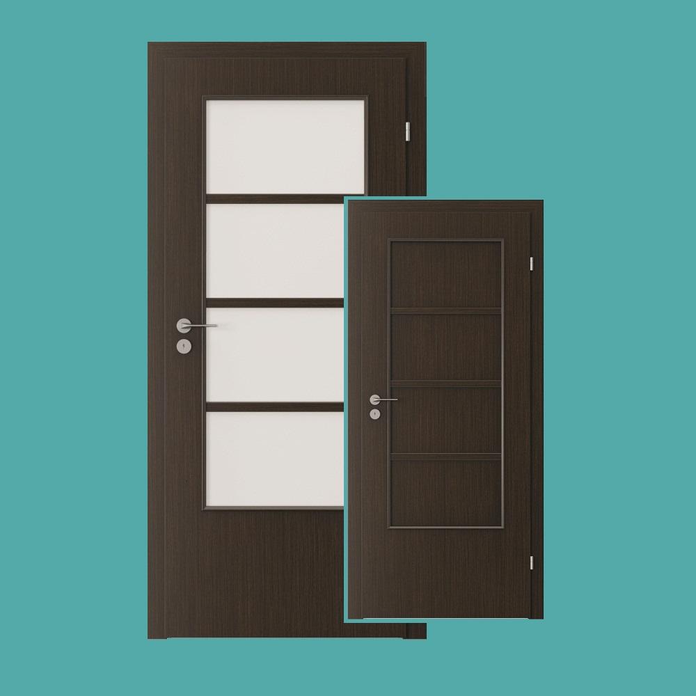 styl zimmert r mit breitem glasausschnitt oder hdf verkleidung verschiedene cpl furnierfarben. Black Bedroom Furniture Sets. Home Design Ideas