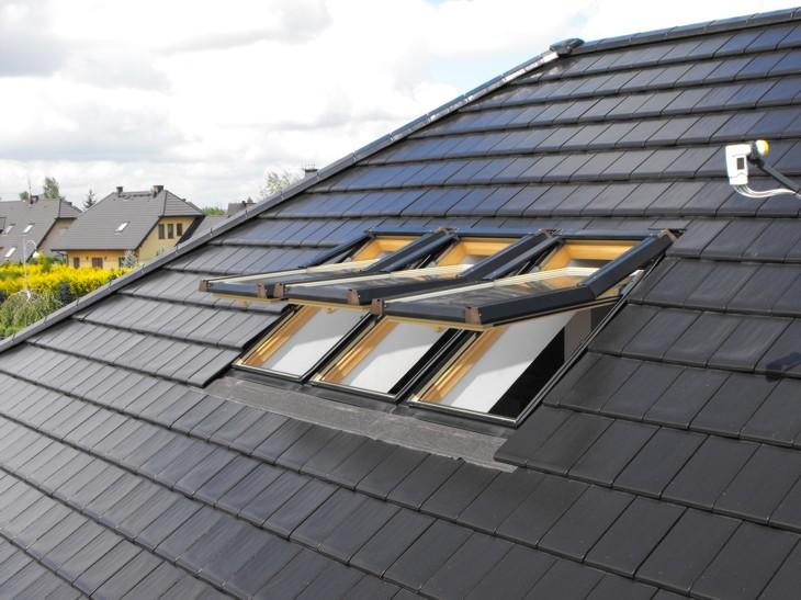 Dachfenster 114x140 dachfl chenfenster skylight kunststoff incl eindeckrahmen - Dachfenster skylight ...