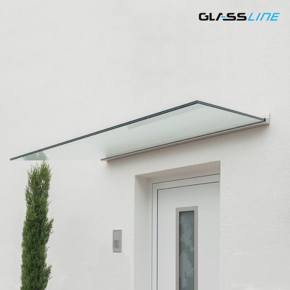 Trägerloses Glas Vordach CANOPY CLOUD, Breite 1600mm x ...