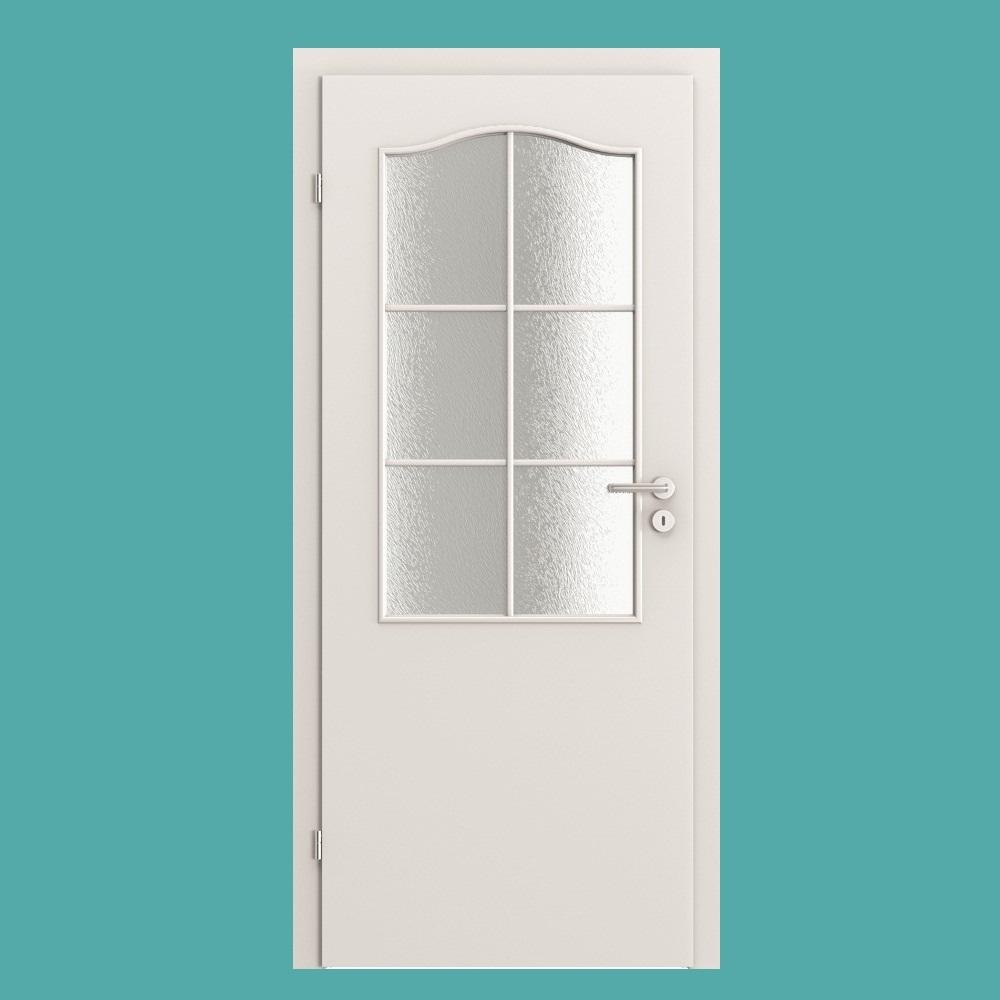 Minimax Weiss Lack Zimmertur Mit Grossem Sprossenfenster 735mm X