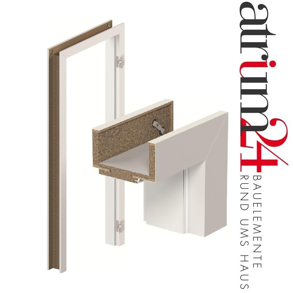 Verstellbare System Zarge für stumpfeinschlagende Türen in Dekor ...