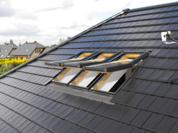 Dachfenster 78x140 dachfl chenfenster skylight kunststoff incl eindeckrahmen - Dachfenster skylight ...