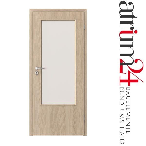zimmert r mit cpl furnier beschichtung und glasausschnitt in verschiedenen dekoren. Black Bedroom Furniture Sets. Home Design Ideas
