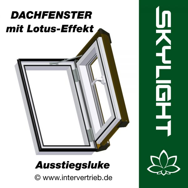 dachfenster dachluke lotus effekt skylight kunststoff incl eindeckrahmen 45x73cm. Black Bedroom Furniture Sets. Home Design Ideas