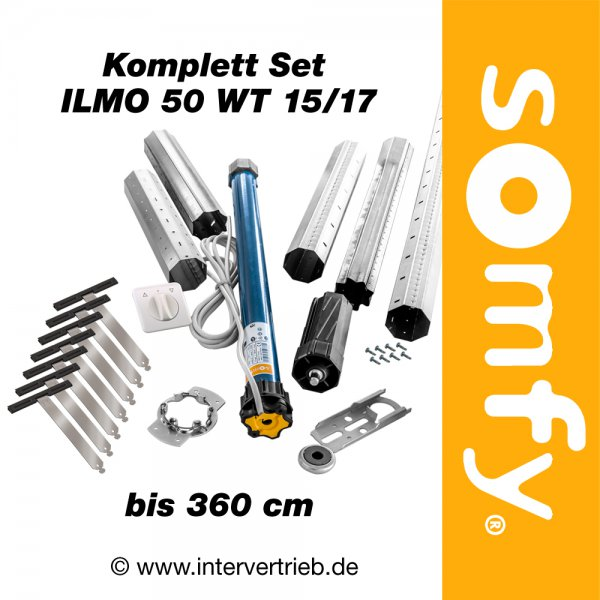 somfy ilmo 50 wt 15 17 im komplett set. Black Bedroom Furniture Sets. Home Design Ideas
