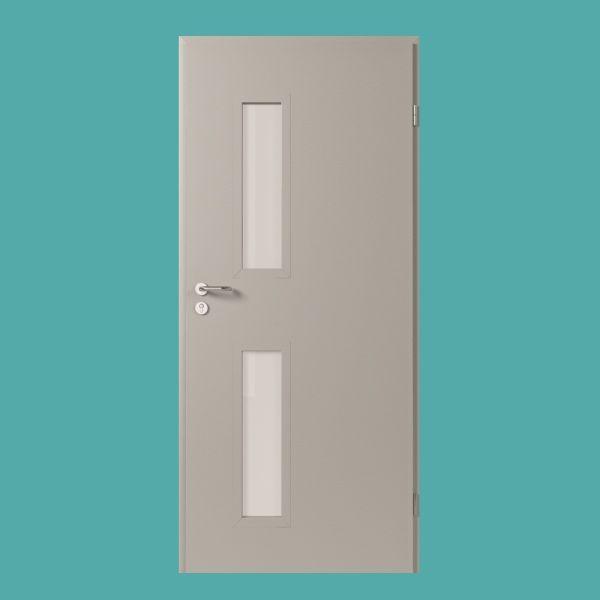 metallt r mit doppeltem glasausschnitt konstruktion aus verzinktem blech in verschiedenen. Black Bedroom Furniture Sets. Home Design Ideas
