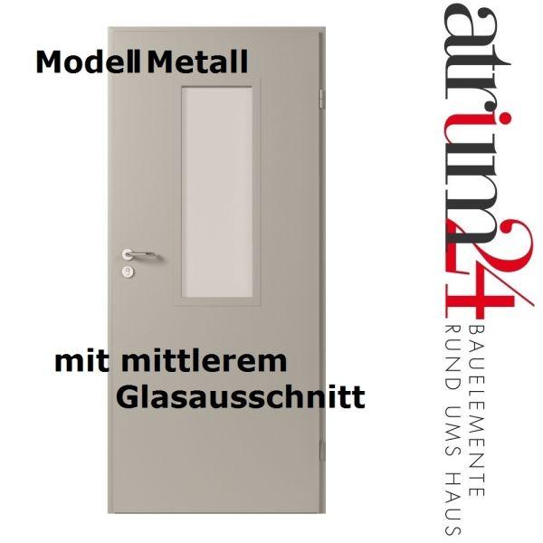 metallt r mit glasausschnitt konstruktion aus verzinktem blech in verschiedenen lackierungen. Black Bedroom Furniture Sets. Home Design Ideas